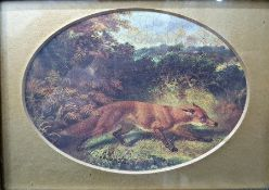 After Archibald Thorburn Colour print Fox together with various further pictures and prints and a