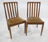 Set of four 20th century teak Meredew boardroom chairs(4)