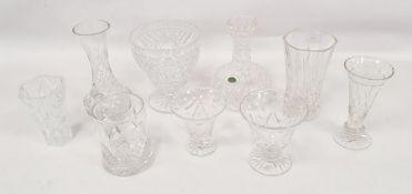 Assorted glasswareto include Stuart hock glasses and further glassware