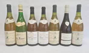 Seven bottles of wine to include three bottles of 1985 Comtes de Chartogne Bourgogne Jaboulet