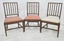Set of six mahogany railback dining chairs (6)