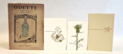 Frost, Robert ( 1874-1963) poetry - three Christmas cards 'My Objection to Being Stepped On'