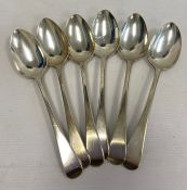 A set of four George III silver dessert spoons, makerWilliam Eley & William Fearn, London 1807, and