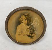 An early 20th century circular silver mounted picture frame, London 1903, maker John Collard