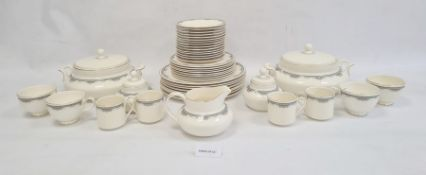 Extensive service of Royal Doulton 'Albany' pattern dinner and tea ware, originally for eight