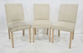 Four modern fabric-covered dining chairs(4)