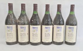 Six bottles of 2002 Vin de Pays du Comte Tolosan Cuvee L'Etoile, produce of France (6)
