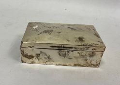 An early 20th century silver mounted rectangular box, plain, Birmingham, 1906, makers Henry