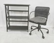 Office swivel chair and shelving unit (2)