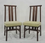 Set of eight, 20th century, possibly Scandinavian, dining chairs (8)
