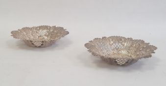 Pair of Edwardian silver bonbon dishesby Cooper Brothers & Sons Limited, Sheffield 1903, of