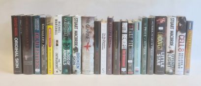 "Crime - various signed and unsigned first editions to include:- Mark, David ""Original Skin"", Quercus"