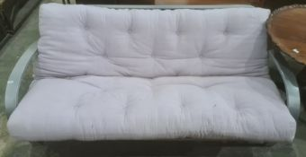 Futon sofa bed with metal frame
