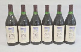 Six bottles of 2002 Vin de Pays du Comte, Tolosan Cuvee L'Etoile, produce of France (6)