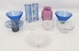 Assorted glasswareto include weights marked 'Made in Finland', Mats Jonasson Swedish paperweight,