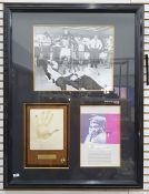 Mohammed Ali framed and glazed photograph, part biography and hand print