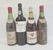 One bottle of Fonseca Porto Reserve ruby port, two bottles 1973 Chinon Aug. Hellmers & Sons Ltd,