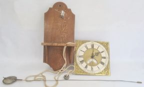 Late 18th / early 19th century longcase clock movement, converted to bracket clock, 30 hour striking