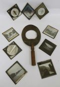 Assorted slides and magic lantern, slides on subjects such as insects, landscapes, hotels, etc