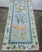 Modern rug with floral decoration 155 x 75 cm