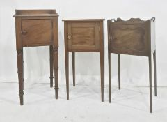 Assorted washstands and nightstands to include 19th century tray-top washstand with single door,