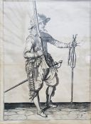 "After Jacob de Gheyn (1565-1629) Copperplate engraving ""The Exercise of Armes for Calivres,"