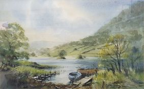 D. John Sweetingham Watercolour Rydal Water together with various prints (6)