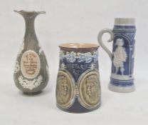 Doulton Lambeth Victorian Diamond Jubilee stoneware mug, Doulton Slaters Society of Arts 1885