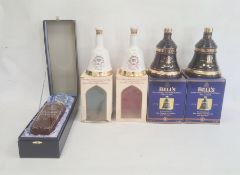 Assorted whisky to include a bottle marked Glamis Castle in presentation case and four commemorative