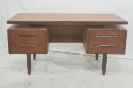20th century G-Plan teak Fresco vanity dressing table designed by Victor Wilkins for G-Plan, with