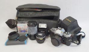 Minolta X-300 camerawith Clubman MC Auto 1:2.8 lens andClub MC Auto zoom 1:4.5-5.5 lens