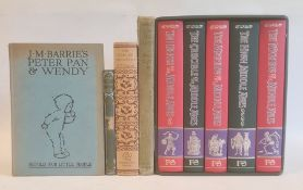 "Folio Society ""The Middle Ages"", 5 vols within slip case  Barrie, J M ""Peter Pan and Wendy Retold"