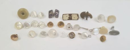 Three various 9ct gold studs, approx 2.4g,quantity of various studs and sundry items