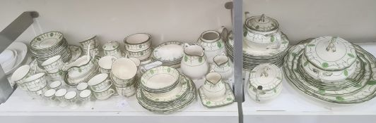 Royal Doulton Countess pattern composite part dinner service, printed green marks, registration