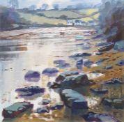 Michael B Edwards (1939-2009) Oil on board 'Gillan Creek, Cornwall' Signed lower left 60cm x
