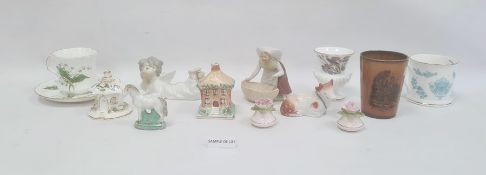 Assorted collection of ceramicsincluding a Ridgeways Pickwick Dickensware mug, a Staffordshire