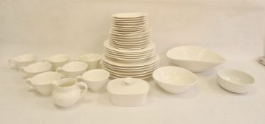 Portmeirion Sophie Conran designed part-dinner service, 20th century, printed marks, of reeded form,