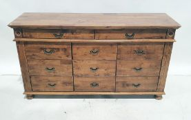 Modern sideboardof 11 assorted drawers, 153cm x 84.5cm Condition ReportScratching and marking to