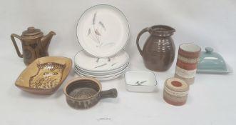 Quantity of Denby 'Greenwheat' china, a studio pottery bowl, a quantity of Norwegian '