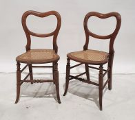 Pair of cane seated chairs(2)