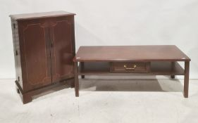 Mid 20th century mahogany coffee table and two-door cabinet (2)