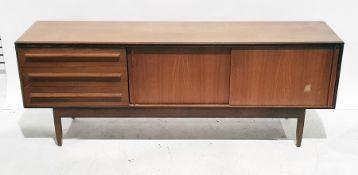 20th century White & Newton teak sideboard, the rectangular top above three drawers, two sliding