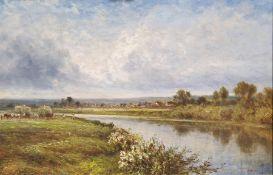 Daniel Sherrin (British, 1869-1940) Oil on canvas Pastoral scene Signed lower right 38.5cm x 59cm