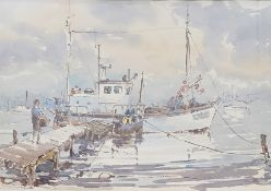 """Victor Kelly (20th century) Watercolour drawing """"Walberswick"""", signed lower right, 30.5cm x 44.5cm"""