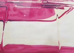 Brendan Neiland (RA b.1941) Limited edition screenprint Reflections of a car bonnet, signed