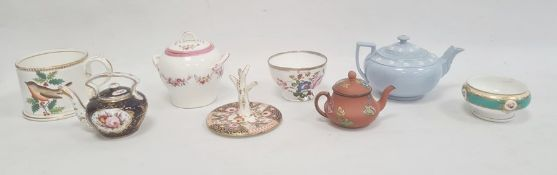 Collection of English pottery and porcelain teawares, circa 1830 and later, printed and painted with