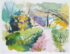 Niel Bally (b.1951) Watercolour drawing Landscape, signed and dated 92 lower right, 25cm x 33cm