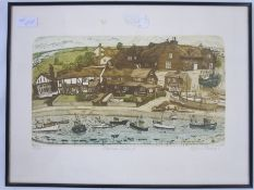"""Glynn Thomas (20th century) Limited edition print, No 26 of 150 """"Mousea Island"""", signed in pencil to"""