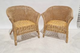 Pair of wicker conservatory-type tub chairs(2)