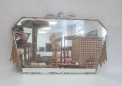 Art Deco mirror, max width approx 68.5cm